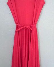 vintage-kjole-pink-flaeser-plisseret-trend-genbrug