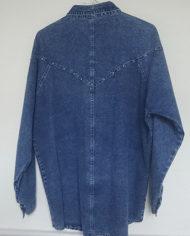 Skjorte – Denim – Aplikationer – 80'erne – Oversize – Retro – Genbrug – Trend – Mie Arida – Bagfra