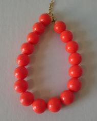 Halskæde – Plastik – Orange – Statement – Retro – Genbrug – Trend – Mie Arida – 1