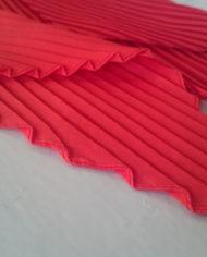 Tørklæde – Plisse – Orange – Retro – Genbrug – Trend – Mie Arida – Nærbillede