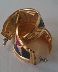 Øreringe – Sæt – Guld – Læder – Slangeprint – 80'erne – Retro – Genbrug – Trend – Mie Arida – 1