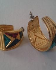 Øreringe – Sæt – Guld – Læder – Slangeprint – 80'erne – Retro – Genbrug – Trend – Mie Arida – 3