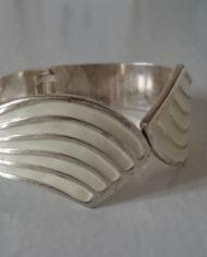Armbånd – Armring – Sølv – Emalje – Vintage – Genbrug – Trend – Mie Arida – 2