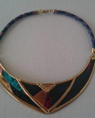 Halskæde – Sæt – Guld – Læder – Slangeprint – 80'erne – Retro – Genbrug – Trend – Mie Arida