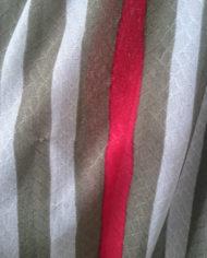 Kjole – Stribet – Hverdag – Retro – Genbrug – Trend – Mie Arida – Nærbillede stof