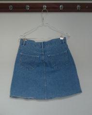 Nederdel – Denim – Lårkort – Gennemknappet – 90's – Retro – Genbrug – Trend – Mie Arida – Bagfra.jpg