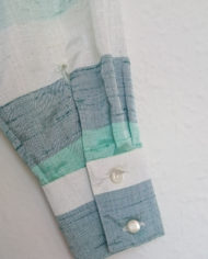 Skjorte – Vandret Striber – Pastel – Silke – Retro – Genbrug – Trend – Mie Arida – Detalje