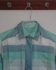 Skjorte – Vandret Striber – Pastel – Silke – Retro – Genbrug – Trend – Mie Arida – Forfra 2