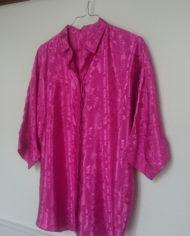 Skjorte – Pink – Oversize – Mønster – 80'erne – Vintage – Genbrug – Trend – Mie Arida – Siden