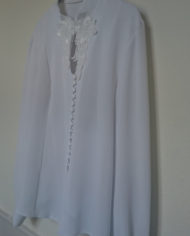 Skjorte – Crepe – Blonde – 80's – Vintage – Genbrug – Trend – Mie Arida – Siden