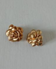 Øreclips -60's – Guld – Metal – Vintage – Genbrug – Trend – Mie Arida – Forfra