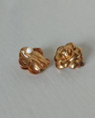 Øreclips -60's – Guld – Metal – Vintage – Genbrug – Trend – Mie Arida – Forfra og Bagfra
