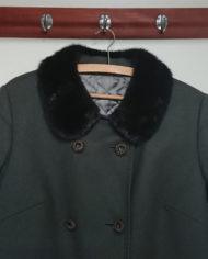 Frakke – Uld – Hellang – Mink – Uld – Quilt – 60'erne – Vintage – Genbrug – Trend – Mie Arida – Nærbillede 2