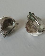 Øreclips – Sølv – Emalje – 80's – Retro – Genbrug – Trend – Mie Arida – Bagfra