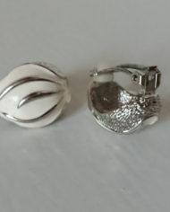 Øreclips – Sølv – Emalje – 80's – Retro – Genbrug – Trend – Mie Arida – For og Bag