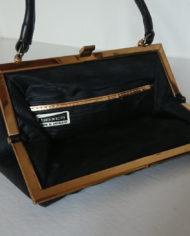 Håndtaske – Dame – Læder – Sort – 70's – Boxco – Vintage – Genbrug – Trend – Mie Arida – Indeni