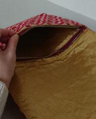 Taske – Clutch – Stof – Vævet – Eksotisk – Vintage – Genbrug – Trend – Mie Arida – Indeni