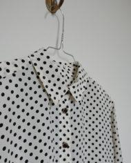 Skjorte – Polkaprikker – Sort og Hvid – 80's – Vintage – Genbrug – Trend – Mie Arida – Detaljer