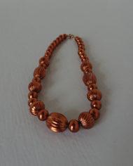 Halskæde – Plastik Perler – Kobber – Retro – Vintage – Genbrug – Trend – Mie Arida – Forfra