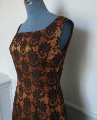 Kjole – Cocktailkjole – Skræddersyet – 60's – Brokadestof – Vintage – Genbrug – Trend – Mie Arida – Siden