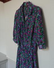 Kjole – Kittel – Blomstret – Satin – USA – Retro – Vintage – Genbrug – Trend – Mie Arida – Siden