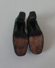 Sko – Loafers – Ruskind – Guld – Flaskegrøn – Vintage – Genbrug – Trend – Mie Arida – Nedefra