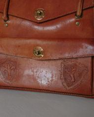 Taske – Kernelæder – Skoletaske – Monogram – Retro – Vintage – Trend – Mie Arida – Detaljer