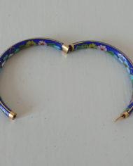 Armbånd – Cloisonne – Porcelæn – Blå – Vintage – Genbrug – Trend – Mie Arida – Åbning