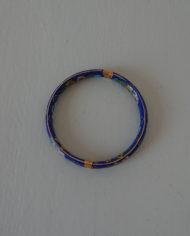 Armbånd – Cloisonne – Porcelæn – Blå – Vintage – Genbrug – Trend – Mie Arida – Nærbillede