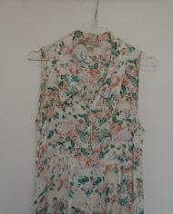 Kjole – Gennemknappet – 90s – Blomstret – Trend – Retro – Vintage – Genbrug – Trend – Mie Arida – Nærbillede