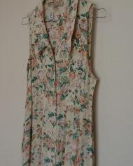 Kjole – Gennemknappet – 90s – Blomstret – Trend – Retro – Vintage – Genbrug – Trend – Mie Arida – Siden