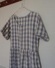 Kjole – Gennemknappet – 90s – Bomuld – Blå – Hvid – Tren – Retro – Vintage – Genbrug – Trend – Mie Arida – Siden