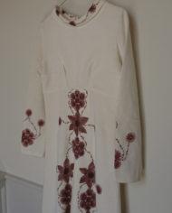 Kjole – Blomster _ Krave – Faconsyet – 70's – Retro – Vintage – Genbrug – Trend – Mie Arida – Siden