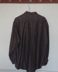 Skjorte – Orientalsk – Blå – – Guld – 80's – Retro – Vintage – Genbrug – Trend – Mie Arida – Bagfra