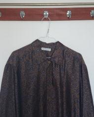 Skjorte – Orientalsk – Blå – – Guld – 80's – Retro – Vintage – Genbrug – Trend – Mie Arida – Nærbillede