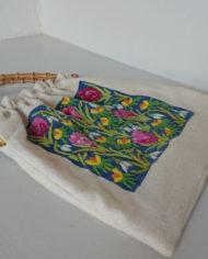 Taske – Bambushåndtag – Uld – Broderi – Forår – Vintage – Genbrug – Upcycled – Trend – Mie Arida – Siden