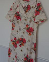 Kjole – Kittel – Blomstret – Lyserød – Retro – Vintage – Genbrug – Trend – Mie Arida -Siden